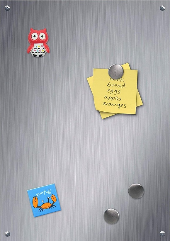 Brushed Stainless Steel Notice Memo Board Magnet