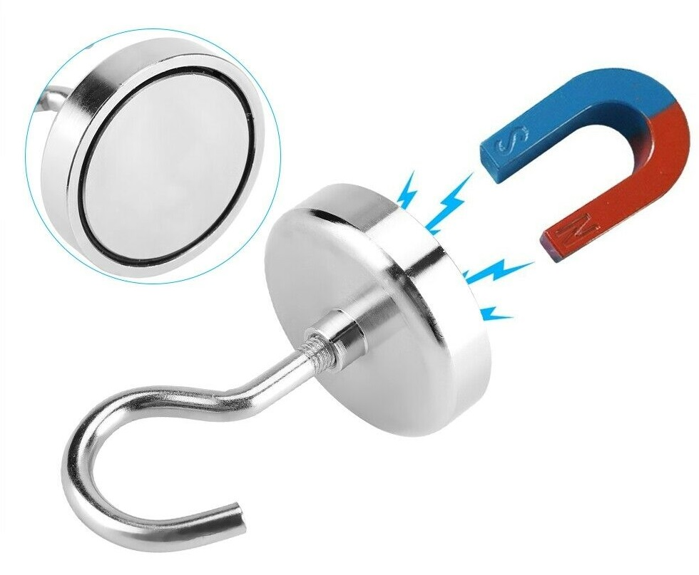 Starke Magnethaken, Hakenmagnete Neodym Magnete Magnethaken Ø 10 bis 75mm