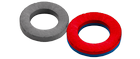 Imanes de ferrita - anillas - magnetizados axialmente – paralelamente con el eje