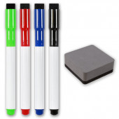 Magnetic Dry Wipe Pens & Magnetic Eraser
