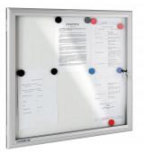Whiteboard Schaukasten für Innenanwendungen, magnetische Rückwand, abschliessbar