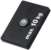 Magnetsystem aus NdFeB, Gummimantel schwarz, mit Innengewinde rechteckig