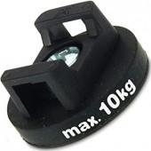 Magnetsystem aus NdFeB, Gummimantel schwarz, für Anschrauben und Kabelmontage