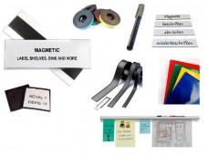 Portatarjetas magnéticas con imanes Etiquetas magnéticas planas escribibles tarjetas para estanterías metálicas soportes metálicos buzones de metal identificación inventario personalizables imprimir señalización estanterías