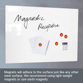 Tableau blanc magnétique effaçable à sec 30 cm x 45 cm bis 120 cm x 240 cm