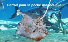 Pesca magnetica a doppio lato Super Magnete al neodimio potente