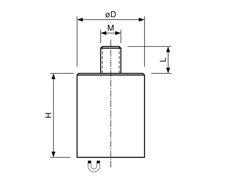 Stabgreifer | Haltemagnet aus Neodym (NdFeB), mit Gewindezapfen, Ø 6mm - 63mm - 1