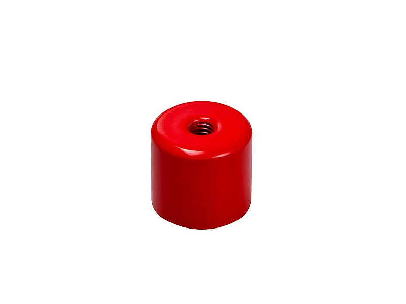Deep Pot Holding Magnet AlNiCo red Ø 12,5mm - 35mm, with inner thread - 180°C - Power Industrial AlNiCo Magnets
