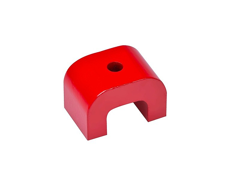 Alnico 5 Horseshoe/Bridge Magnet width 30mm - 70mm red coated - 180°C