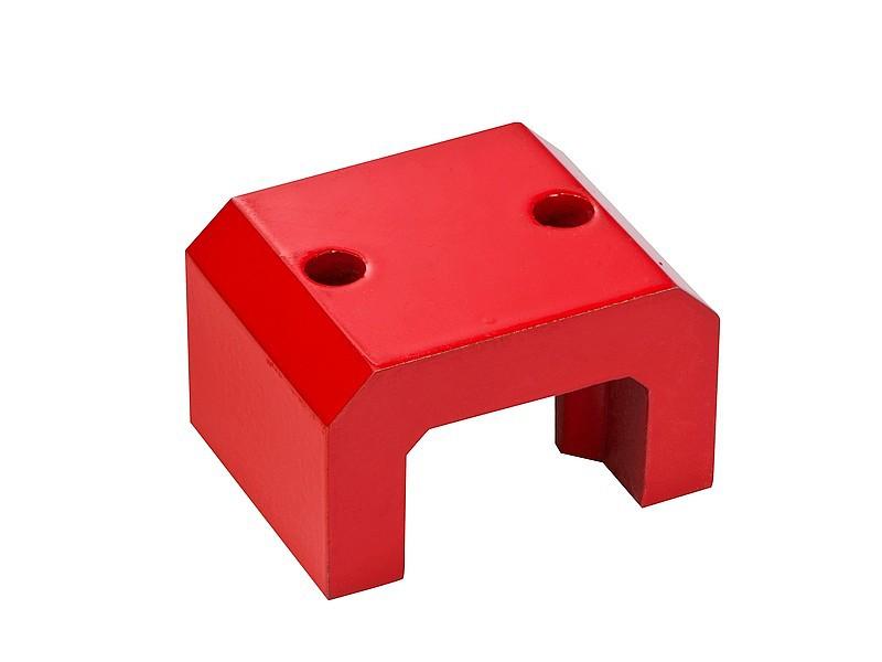 Hufeisenmagnet, Brückenform AlNiCo rot lackiert 180°C - 4