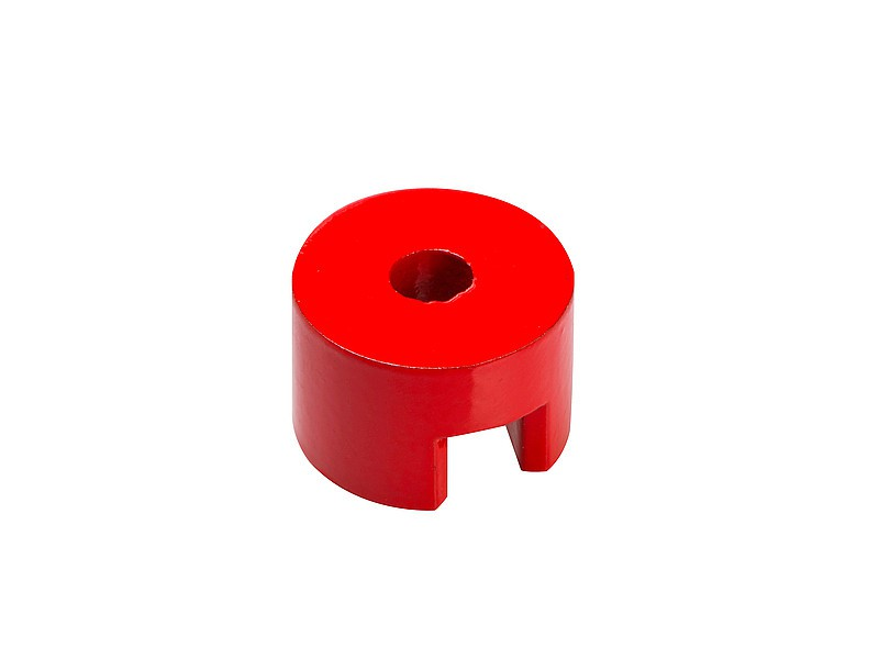 Alnico Button Pot Magnet Ø 13mm - Ø 31,8mm, red coated, 180°C - force: up 6,6 kg