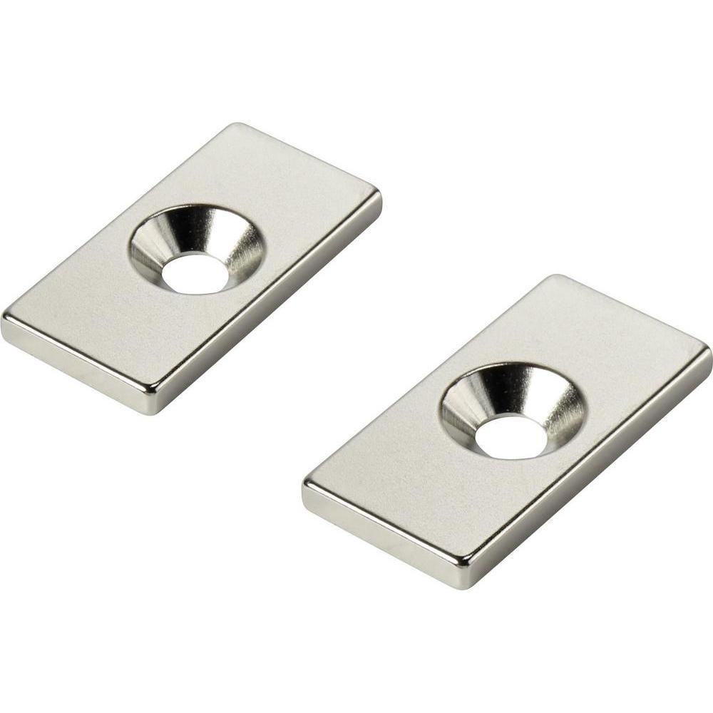 Ringmagnet mit Senkung Ø 15mm x Ø 4mm x 5mm N35 Nickel | Süd