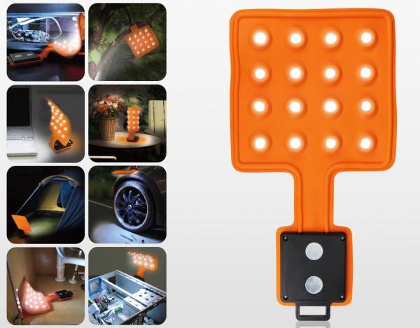 LED Magnet-Leuchte Magnet-Lampe flexibel mit Magneten | 16 LED's - Flexi-Pad - 1