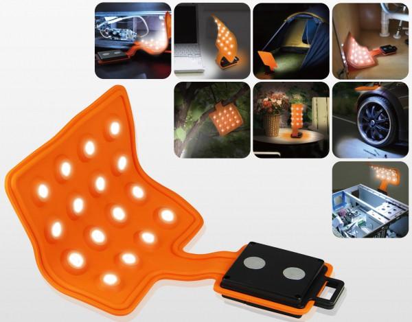 LED Magnet-Leuchte Magnet-Lampe flexibel mit Magneten | 16 LED's - Flexi-Pad - 4