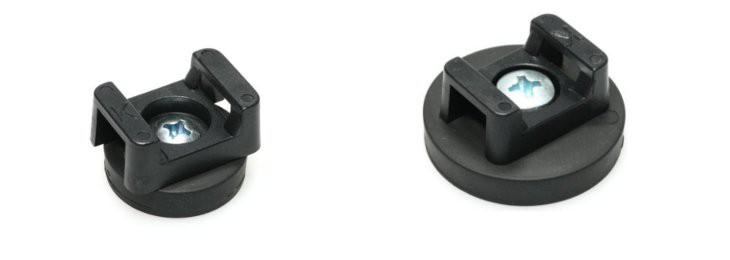 Magnet system  Ø 22 mm - 43 mm gummed, cable mounting - holds 3.8 kg