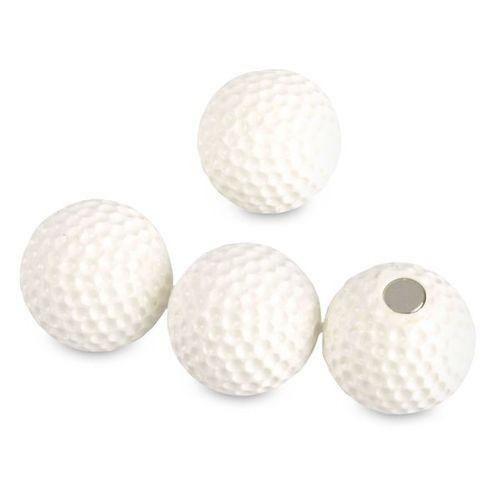 Memo magnets Golf   Deco magnets set of 4 white golf balls Ø 22mm