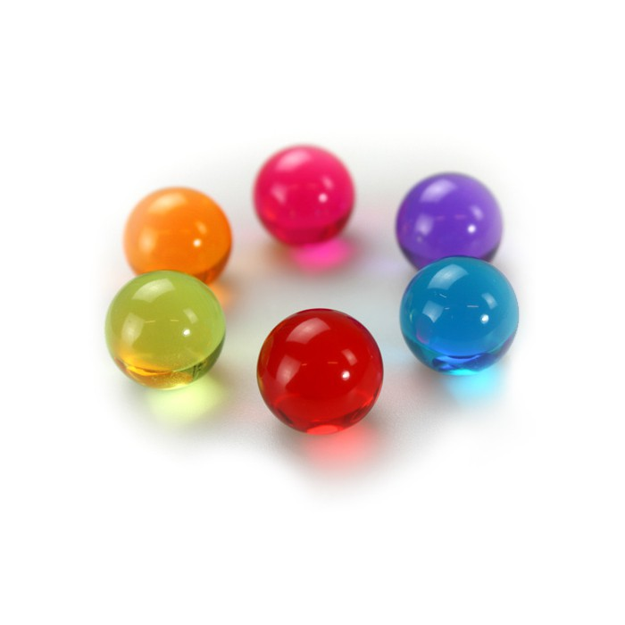 Magnetic Balls assorted colored acrylic balls | set of 6 Ø 18 mm