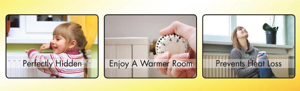6 x Wärmedämmfolie Energiesparfolie magnetisch für Heizungen, Heizkörper Dämmung