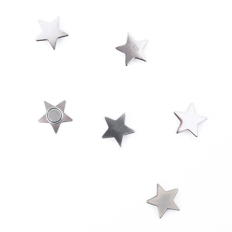6 x Kühlschrankmagnete Star 15x5x5mm Magnete für Pinnwand Magnettafel