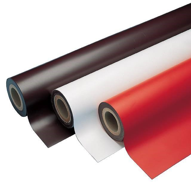 Coloured Magnetic Sheets 0,9mm x 60cm x 30m - ideal for creating signs and are available in red, blue, green, yellow and black
