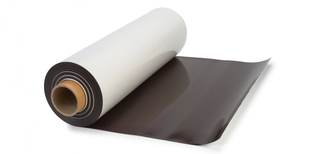 Plain Magnetic Sheet 0,9mm x 0,62m x 30m - Flexible Magnetic Sheets (plain brown magnet)