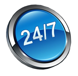 Live Customer Support 24 x 7 x 365 via phone, chat, and email