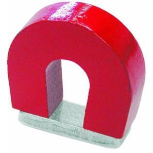 Hufeisenmagnet AlNiCo rot lackiert