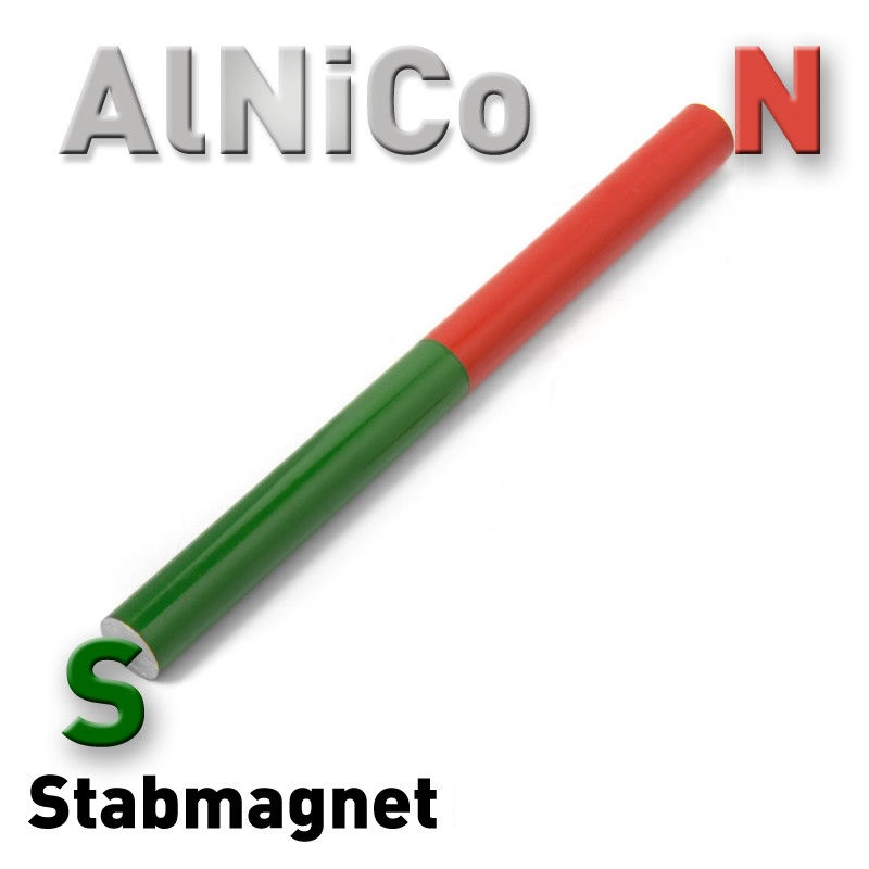 Rod Magnet Alnico Cylindrical Bar Red-Green round Magnets