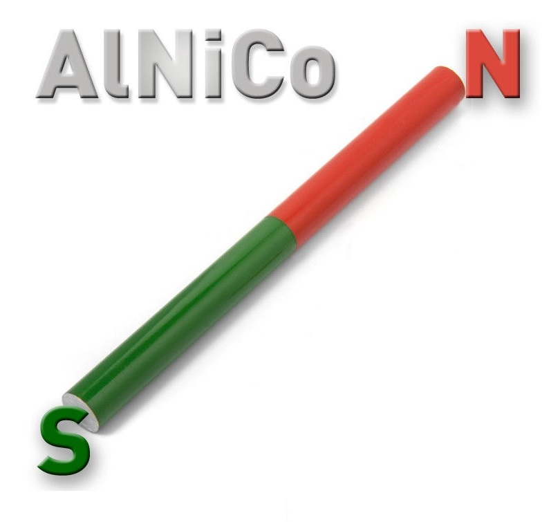 Alnico Red-Green Rod Magnet