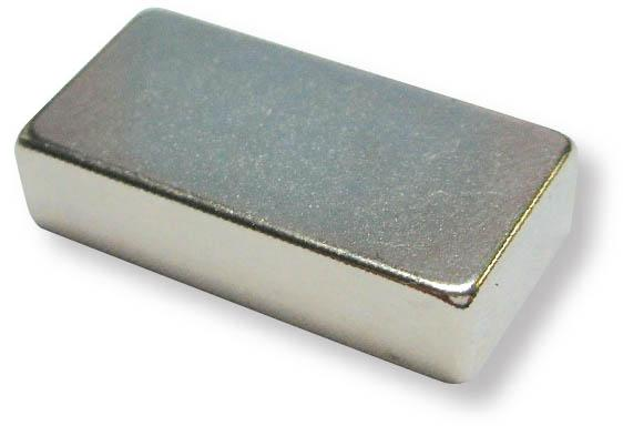 5 x Block Magnet 15 x 15 x  3mm Neodymium N45, Nickel - pull 3,4 kg - 5 pieces - Rare Earth (NdFeB) Magnetic Blocks - Super Strong