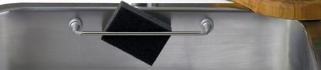 Magnetic stainless steel rail for sinks or fridges, Length: 23 cm, Depth: 4 cm
