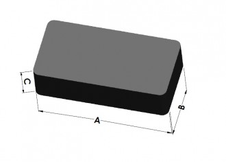5 x Magnetic Blocks Bar Magnet 60 x  20 x 15mm Ceramic Ferrite Y35 - holds 3,5 kg - Rectangular Magnets, Hard Ferrite