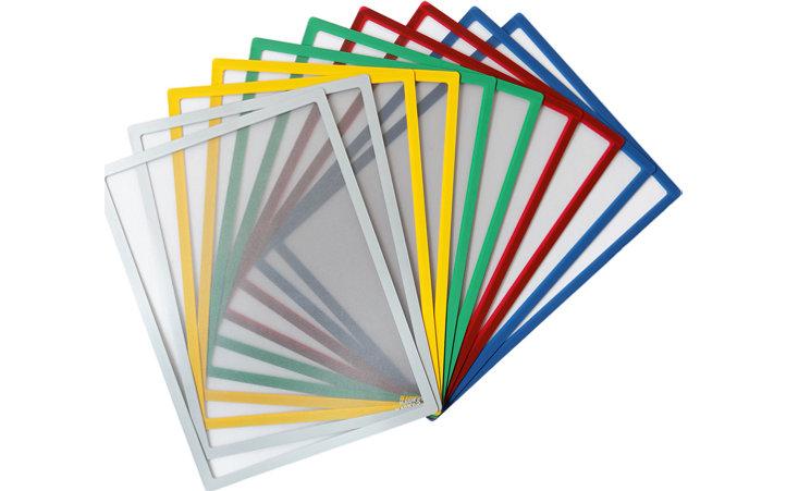 Tasca magnetica con lato fronte in PVC A4, Cornice A4 Magnetica