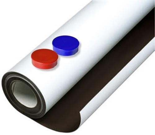 Eisenfolie/Ferrofolie weiss matt selbstklebend für Magnete