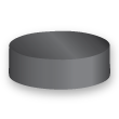 Round Circle Magnets Ø 10 x  3 mm Ceramic Ferrite Y30 no coating holds 250g