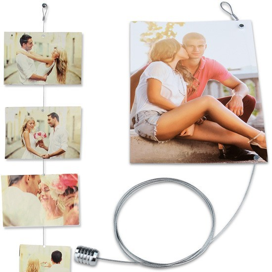 Magnetic photo holder / Magnetic Photo Rope STEEL COPPER - 8 magnets 150 cm long