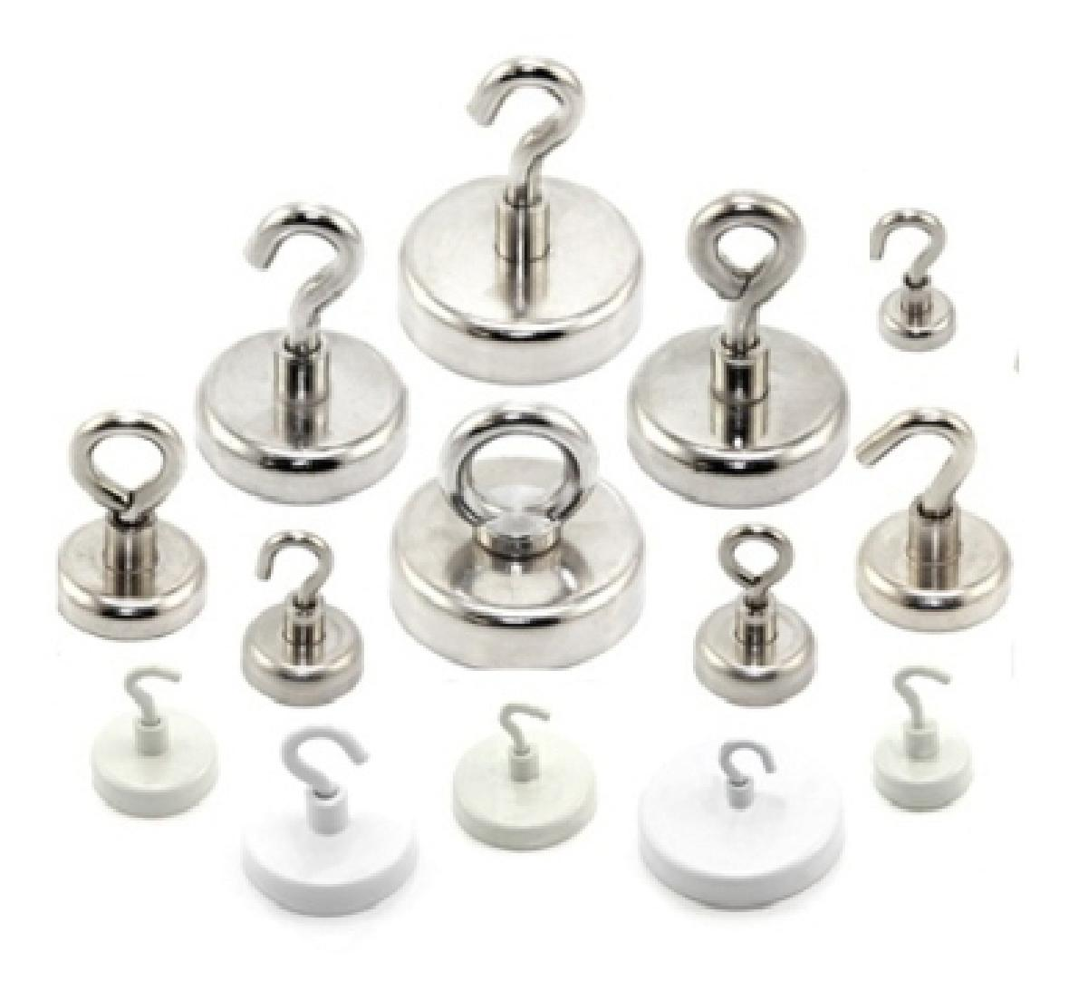 Neodymium Pot Magnets for Hooks or Eyelets holds 160kg