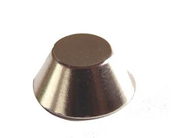 5 x Cone Magnet Ø 15/8 x 6 mm Neodymium N42 (NdFeB) Nickel-plated - Force 5 kg - 5 pieces - Super Strong Rare Earth Conical Magnets