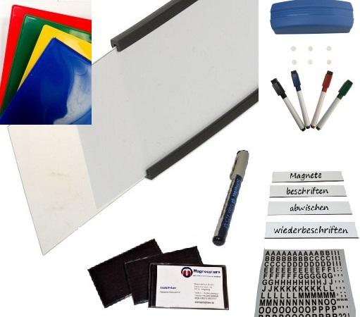 Büromagnete und Organisation starke Pin-Magnete auch Memohalter oder Kegelmagnete genannt runde flache Pinnwandmagnete / Kühlschrankmagnete und rechteckige Allzweckmagnete zum Befestigen von Notizen Bildern und Broschüren im Büro Lager und Privatbereich