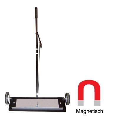 Barredora magnética con potente imánes de ferrita para barrer piezas metálicas, Escobas Magnética Imánes de Ferrita Escoba magnética con imanes
