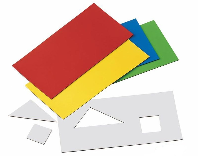 Magnetic Sheets with Colored Vinyl Colored-Magnetic-Vinyl-Sheets Laminated Magnetic Sheeting