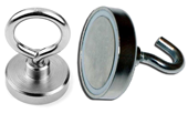 Neodymium Pot Magnet with Eyelet or Hook