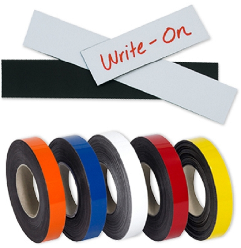 Magnetic Shielding Labels Marking Tape Strips - Write-On/Write-Off - 4 x 8 cm