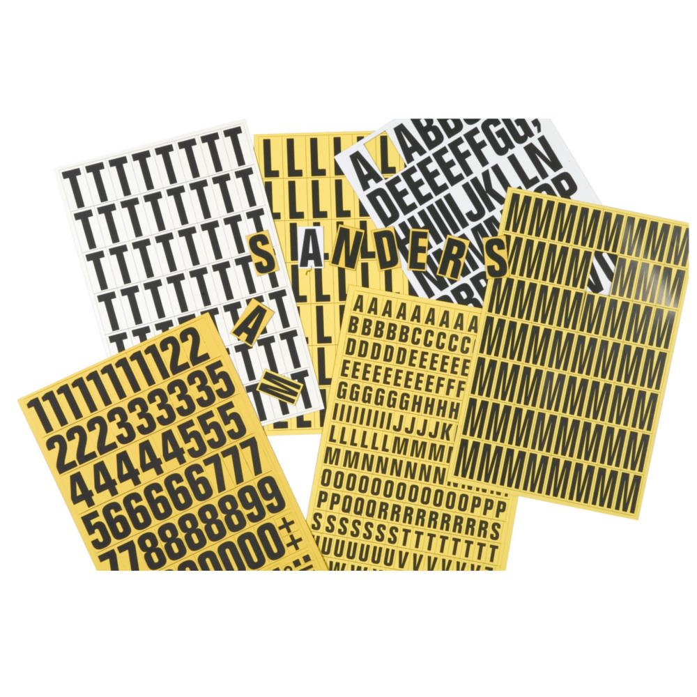 Magnetic Numbers & Letters, Magnetic warehouse shelf tags