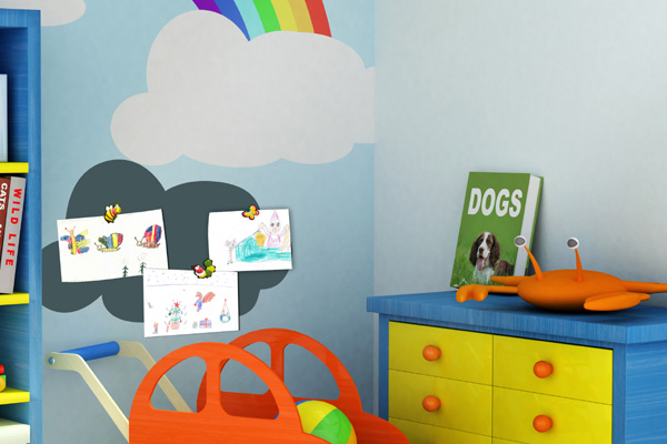 Magnetic receptive wall paint Magnetic Blackboard Paint