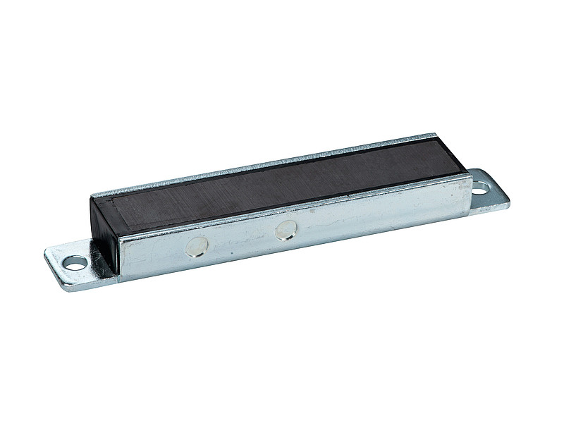 Permanent magnetic bar ferrite with steel housing - 103mm x 20mm x 12mm - 2
