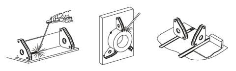 Magnetwinkel / Magnet Schweisswinkel und Montagewinkel 90°, Haftkraft 40kg - 200kg