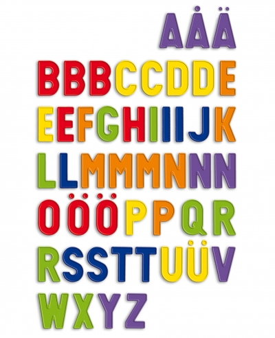 Magnetisches Alphabet - Magnetbuchstaben - Kleinbuchstaben 3,7cm hoch, 70 Teile - 1