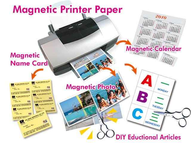 5 x A4 Magnetic Photo Paper for Inkjet Printers, White Matte - 650gm2 - 5 Sheets