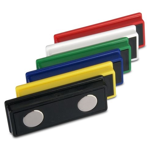 Office magnet 55x22,5x8,5 mm Neodymium 6 assorted colors, 5 pieces holds 4.8 kg